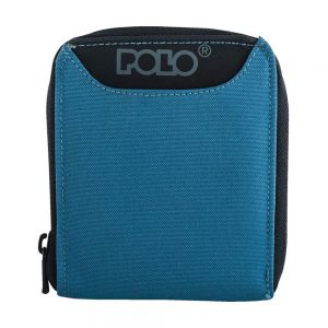 POLO Πορτοφόλι Wallet Zipper (9-38-108-blue)