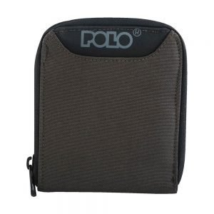 POLO Πορτοφόλι Wallet Zipper (9-38-108-olive)