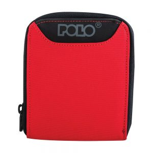 POLO Πορτοφόλι Wallet Zipper (9-38-108-red)