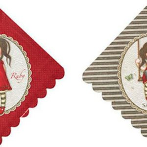 Santoro Gorjuss 8 χαρτοπετσέτες Ruby (BR52391)