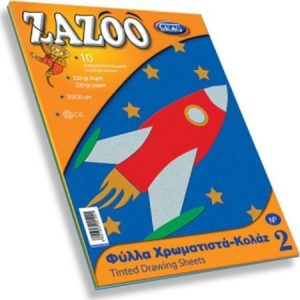 Zazoo Μπλοκ & χαρτιά χειροτεχνίας - Κολλάζ 25x35 10φ. (281249)